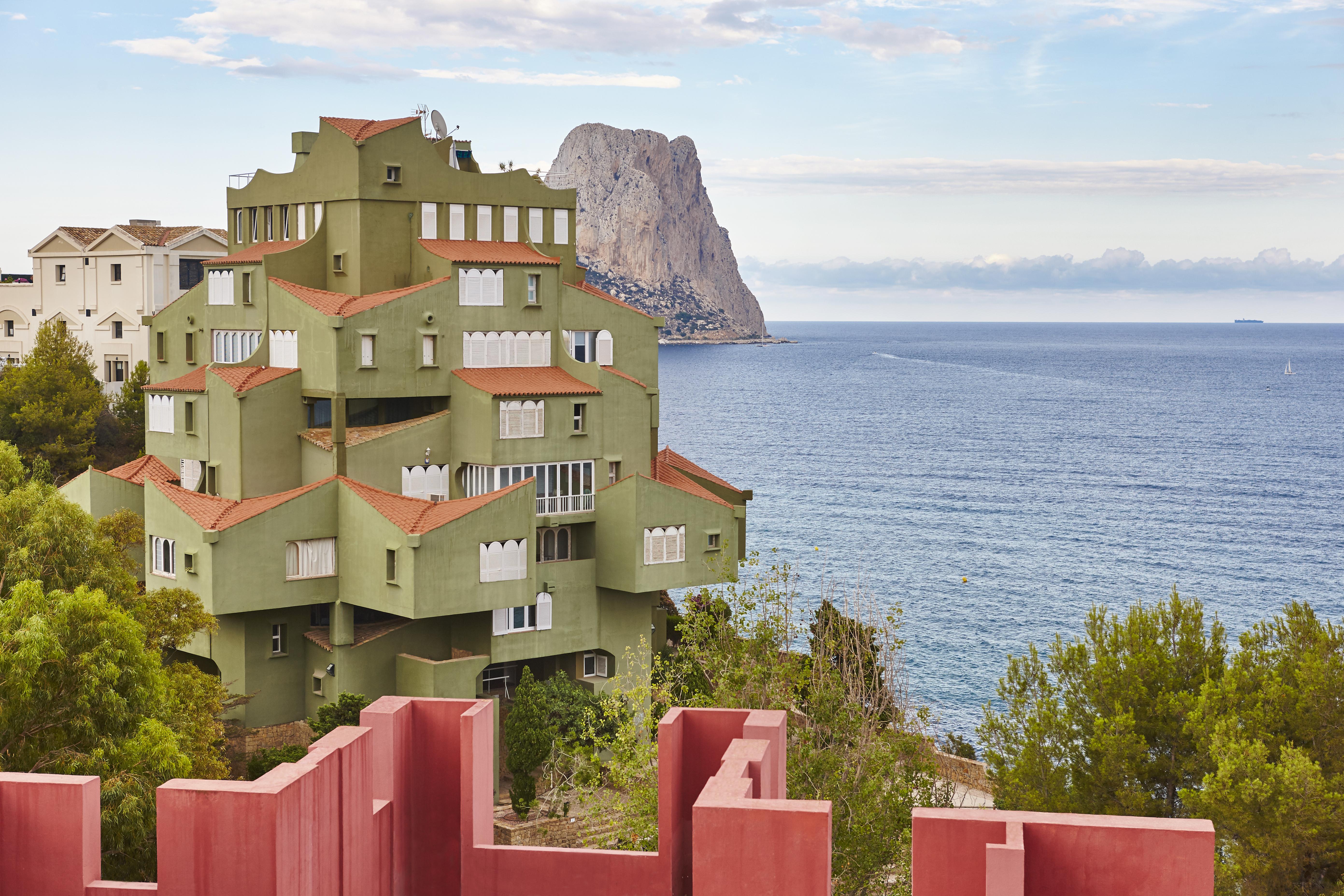 Spanish mediterranean coastline in Alicante. Calpe. La Manzanera